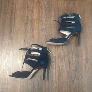 Louise et Cie 'Janell' Lace-Up Navy Sandals